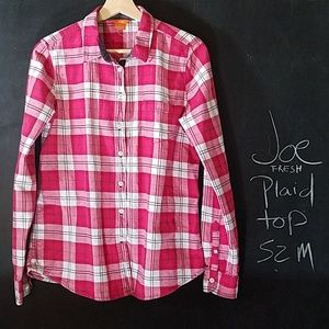 Joe Fresh Plaid Shirt Sz M